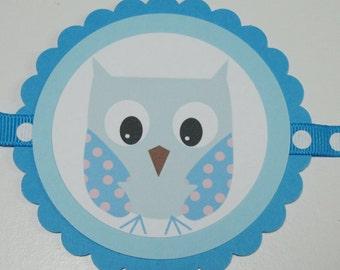 """SALE/CLEARANCE - Cutie PaHOOTie """"It's a Boy"""" Banner"""