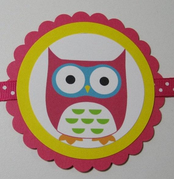 SALE/CLEARANCE - Mod Owl Girl Birthday Banner