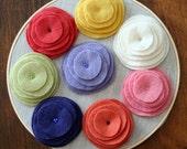 Reclaimed Wool Brooch--Soft Bloom (Purple)