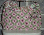 New Shoulder Bag in lovely Pink and Green Colors.