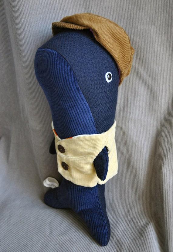 Dapper Whale - a corduroy plush by Chris Creatures for the Corduroy Appreciation Club