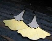 PAM-Brass Ginkgo Leaf Earrings