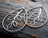LILITH-Encased Silver Stem Hoop Earrings