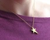 ROCKSTAR-Gold Star Necklace