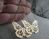MARIAH-Golden Butterfly Filigree Chandelier Earrings
