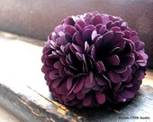 FINGER CORSAGE no.9-Eggplant Purple Fabric Bridesmaid Ring
