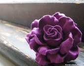 FINGER CORSAGE no.21-Bright Purple Stiff Fabric Bridesmaid Ring