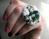 DECO RING no.6-Multi Colored Tweed Ring