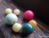 GUMDROPS-Bright Sherbet Resin Beads & Gunmetal Necklace