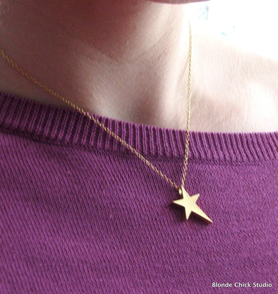 ROCKSTAR-Gold Star Necklace
