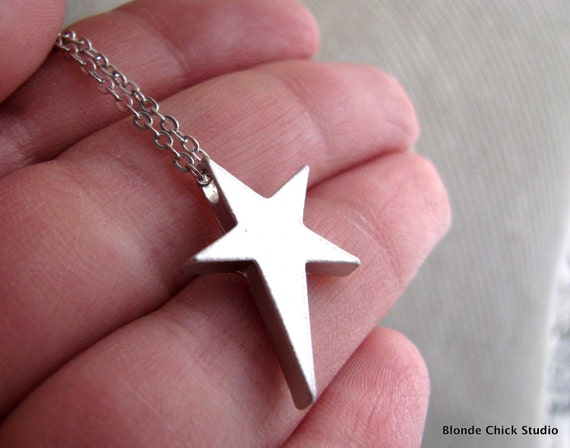 ROCKSTAR-Silver Star Necklace