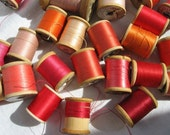 Vintage Red and Pink Cotton Spools
