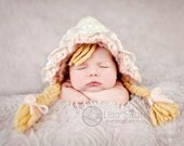 Baby Bonnet Hat ... Little Bo Peep ... Newborn Photo Prop ... Fairy Tale Bonnet ... Infant Gril Hat ... Newborn Size