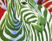 Reserved for Anne - Custom Zebra Painting