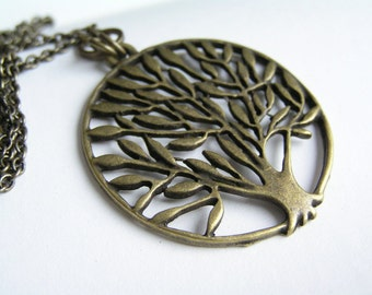 SALE Tree of  Life Long Necklace