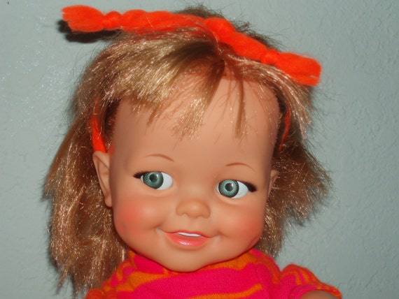 Vintage 1966 Giggles Doll With Dimples