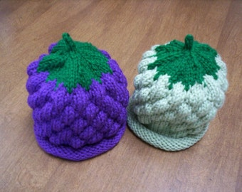 knitted grape hat