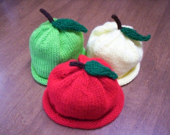 knitted apple hat