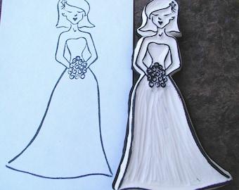 Beautiful Bride Formal Dress stamp