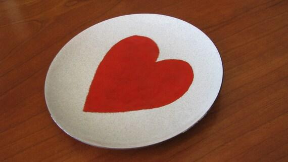 Enamel heart dish by Annemarie Davidson.