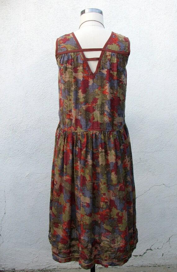 1980s dress, bohemian vintage rayon & viscose, India, sun dress