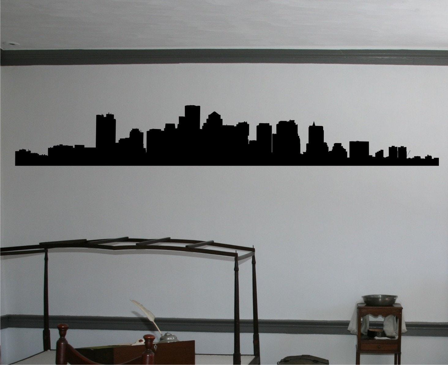Boston Skyline Vinyl Wall Art Wall Decal By Savvygalwalldecals