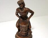 Vintage Treasure Craft Hawaii Bongo Man Hawaiian Drummer