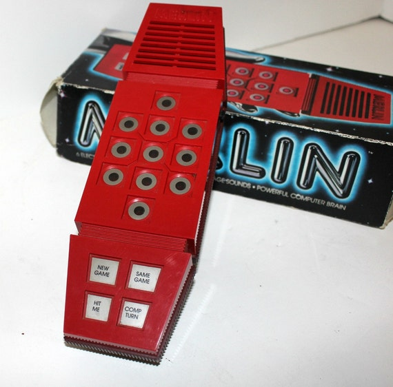 Vintage Merlin Electronic Game Hand Held in Box Parker Bros 6 Games Total 70s
