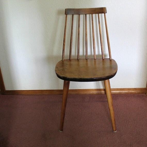 Vintage Yngve Ekstrom Arka Chair Sweden Danish Mid Century Wood