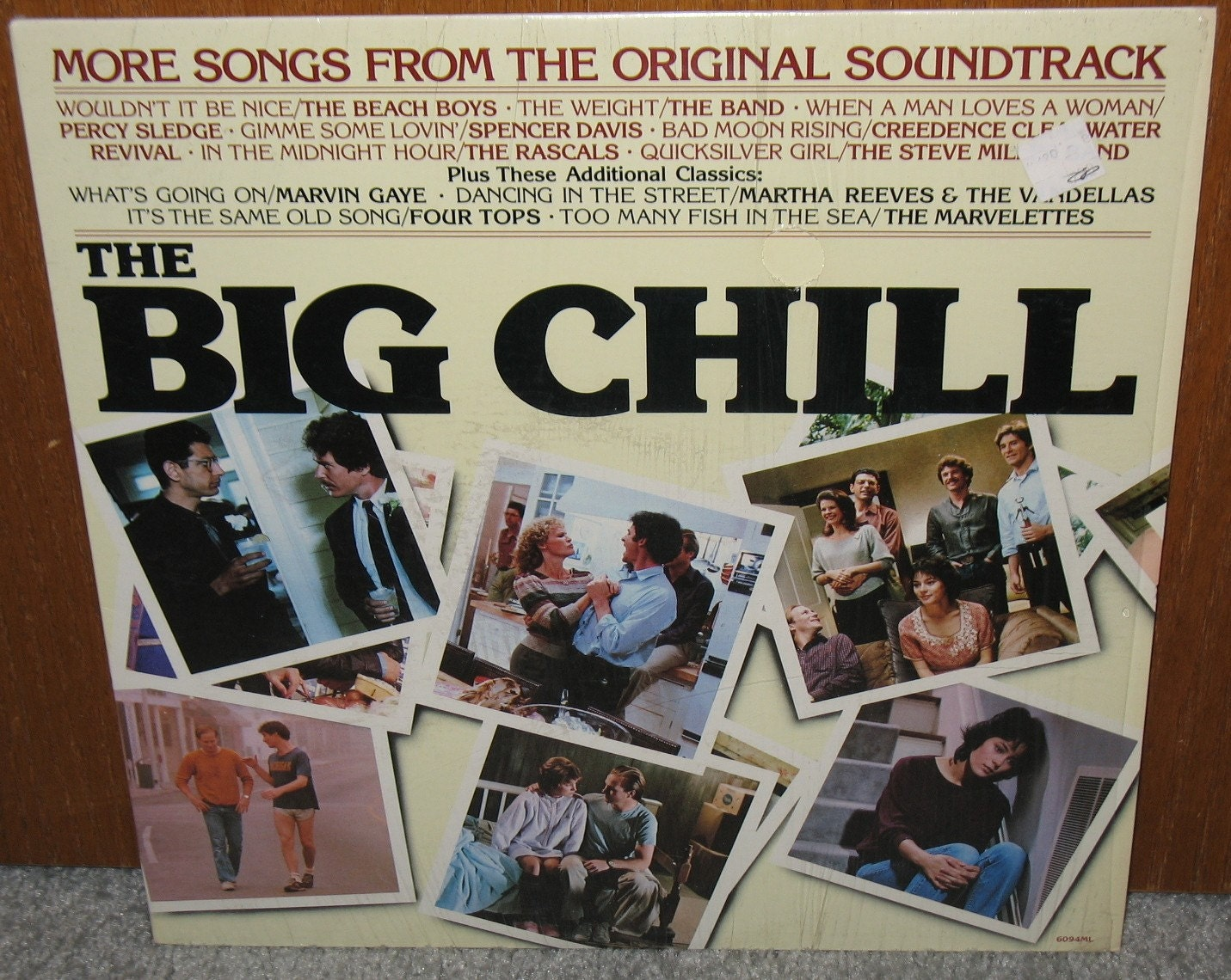 The Big Chill Soundtrack Lp Vinyl Record Album Movie Music 80s