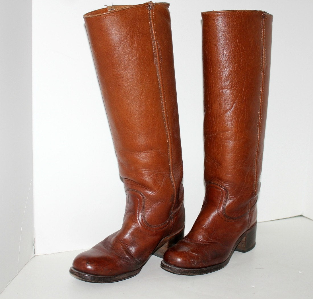 Vintage Frye Boots Tall Equestrian Riding Womens Sz 6 5 Style