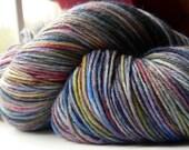 Sock Yarn Hand dyed 462 yards Superwash Merino Wool Tantrum