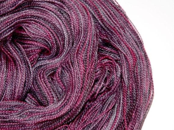 Lace Yarn Merino Wool Silk Hand Dyed Lilac