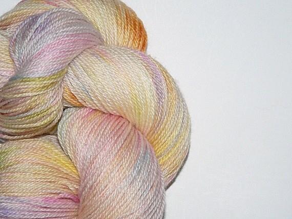 Hand dyed Sock Yarn Merino Wool  Bamboo Grace 380 yards