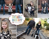 Merry and bright photo collage- custom christmas holiday photo greeting card