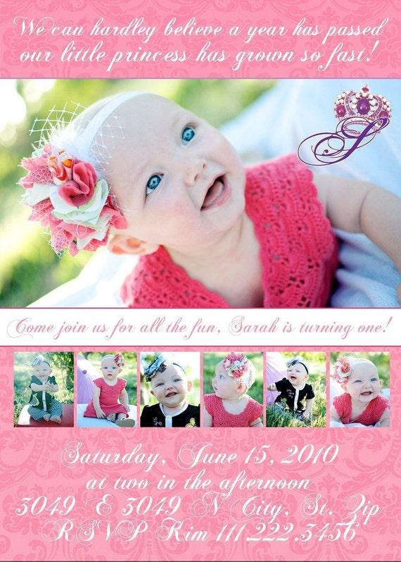 Pretty Pretty Princess- Custom Birthday invitation