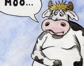 Moo Cow - PRINT