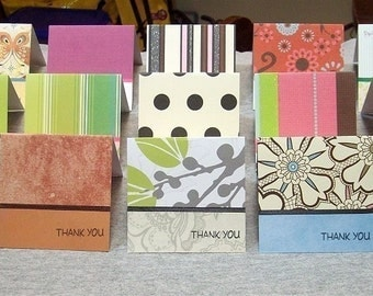 Variety Pack of 3x3 Thank You Note Cards (15)
