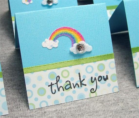 Rainbow Mini Thank You Cards 2x2 (6)