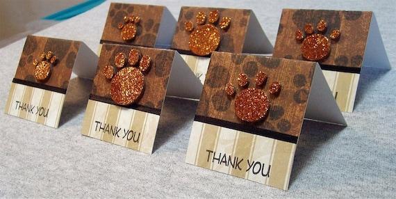 Paw Prints Mini  Thank You Cards (6)