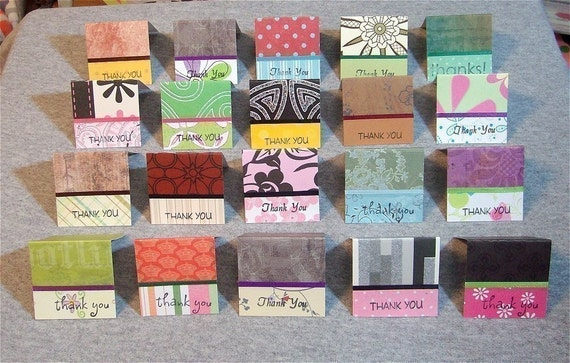 Assorted Mini Thank You Cards  (20)