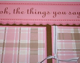 Baby Girl Scrapbooking Page Kit 12x12 with bonus page