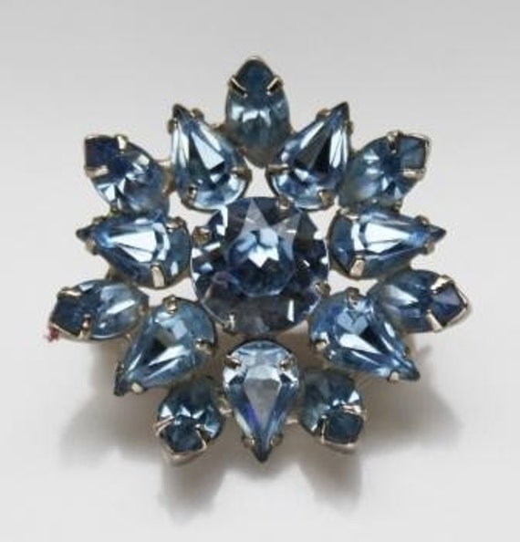 RESERVED for Jamieslyedesigns - Vintage Rhinestone Brooch Scatter Pin jewelry1950s Ice Blue
