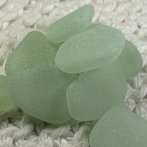 9 Rich Seafoam Blue Green Pendant Charm Size Seaglass Treasures (SG941) Pastel Sea Glass
