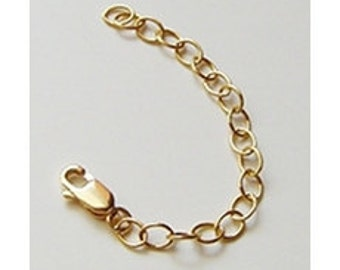 14K Gold Filled Necklace Extender, Extension, Chain, Choose 3, 4, 5, or 6 Inches, Layering Chains, by Diana Bostany