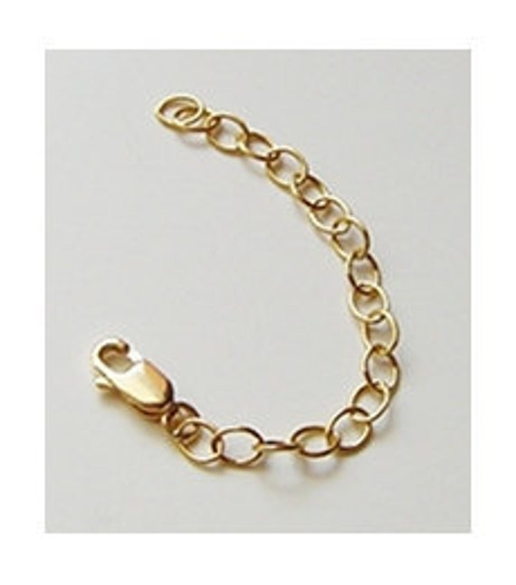 14k gold filled necklace chain extender extension chain choose 3 4