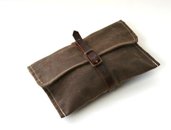 Waxed Canvas Carry Around Bike Tool Bag Wrap
