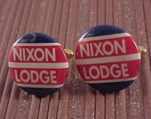 Cuff Links Nixon Lodge Vintage Political Pinback Button - Free Shipping to USA