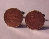 Wheat Penny Coin Cuff Links - Free Shipping to USA