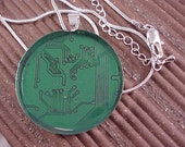 SALE Recycled Circuit Board Pendant Necklace - Free Shipping to USA